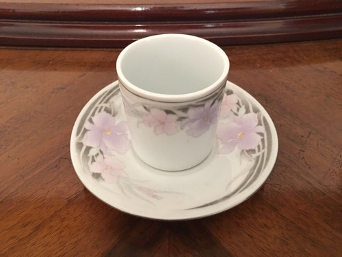 tazas de cafe  x 6 con platitos