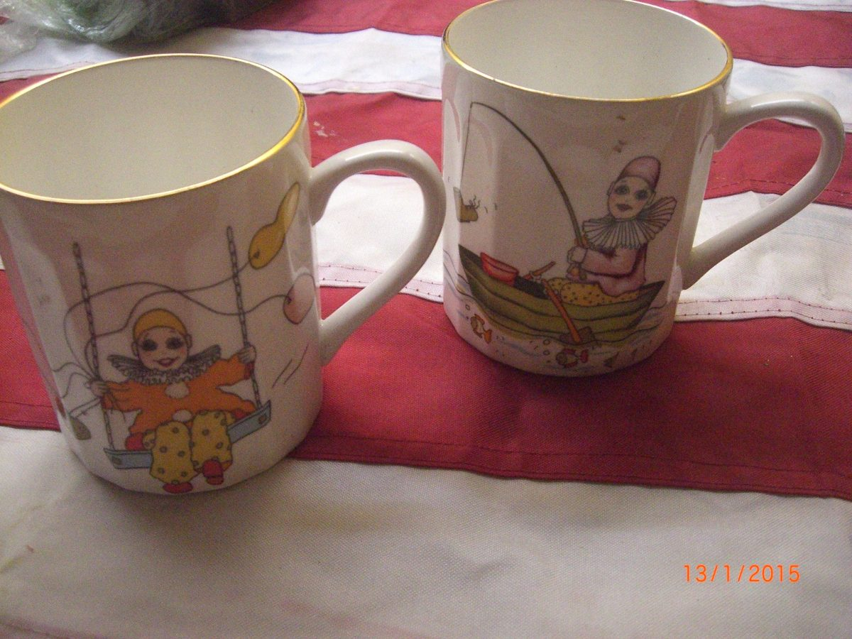Tazas de payaso de porcelana marca berkshire en for Tazas de porcelana