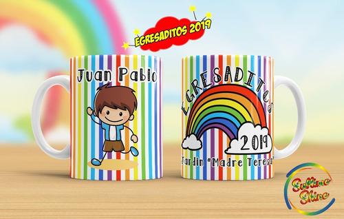 tazas de plastico egresaditos jardin souvenirs
