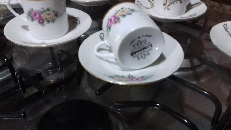 Tazas de porcelana de limoges y azucarera 5 en for Tazas de porcelana