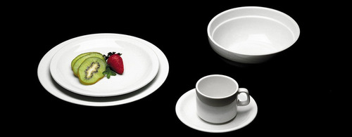 tazas de te con plato x 12 porcelana verbano