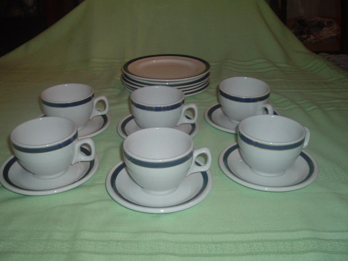 Tazas de te de porcelana con platillo y plato de pan for Tazas de porcelana