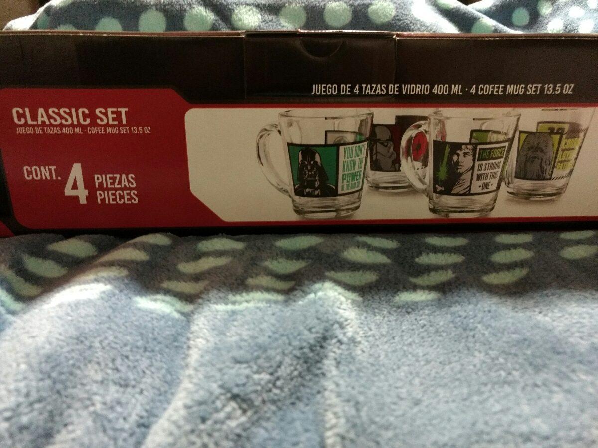 Tazas de vidrio star wars 4 en mercado libre for Juego de tazas de te