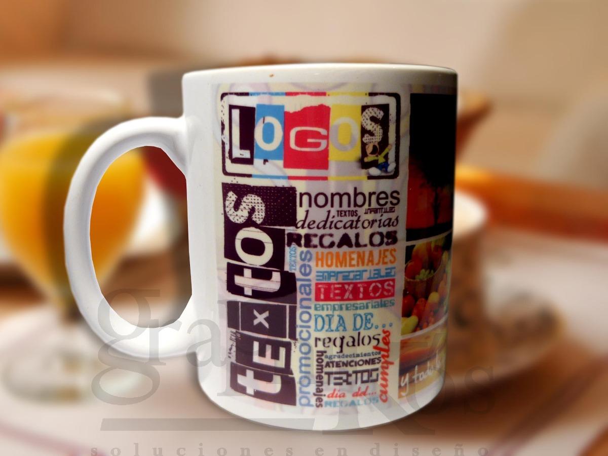 Tazas dise o personalizadas impresas sublimadas jarros caf 95 00 en mercado libre - Tazas de cafe de diseno ...
