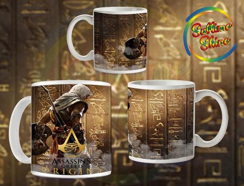 tazas geek -  assassin´s creed origins- linea  gamer