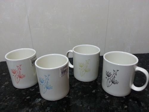 tazas (mug)  310 cc color line flores