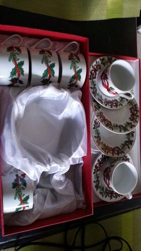 tazas navideñas- (4 tazas)