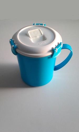 tazas o vaso hermético microondas cierre 4click cocina casa