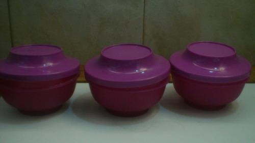 tazas orientales pequeñas tuperware - usadas
