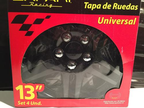 tazas p/ ruedas llantas 13 deportivas auto tuning.x4