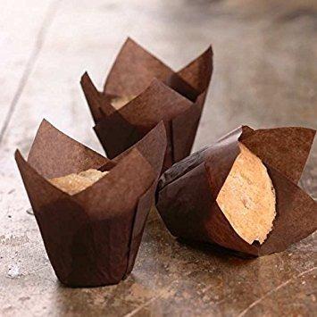 tazas para hornear tulip | magdalena o muffin liners cacao b