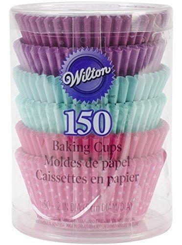 tazas para hornear wilton, estandar, 150 unidades, multicolo