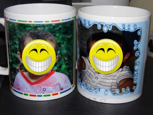 tazas personalizadas con foto c/caja + diseño gratis divinas