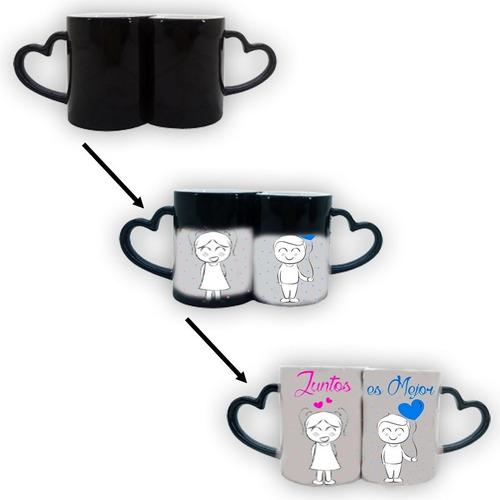 tazas personalizadas mágicas parejas asa corazón - regalos
