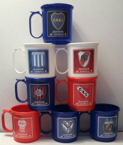 tazas plásticas equipo de fútbol