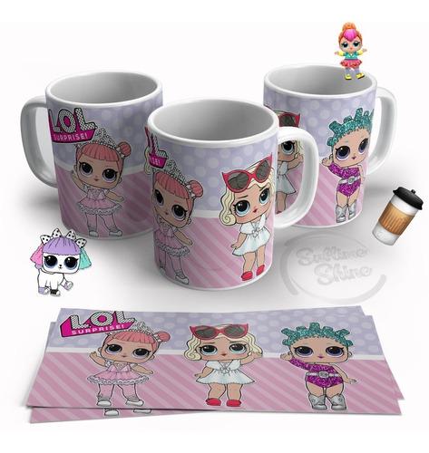 tazas plasticas lol surprise unicornio pack 12 unidades