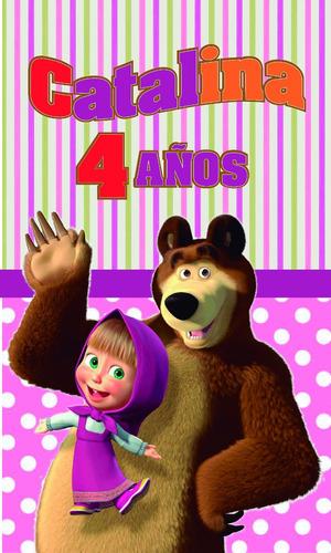 tazas plásticas masha y el oso