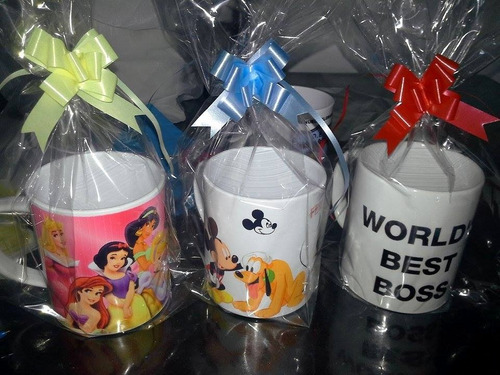 tazas plásticas personalizadas x 100 c/u