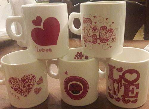 tazas , platos , mates en ceramicas y pintadas