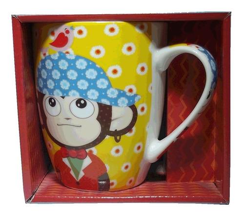 tazas porcelana changos tarros cafe monos regalo porcelana