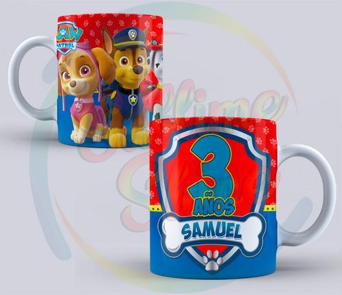 tazas sublimadas  plasticas souvenirs infantil pack x4unid.