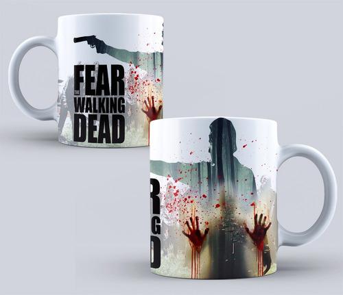 tazas sublimadas - the walking dead - zombis