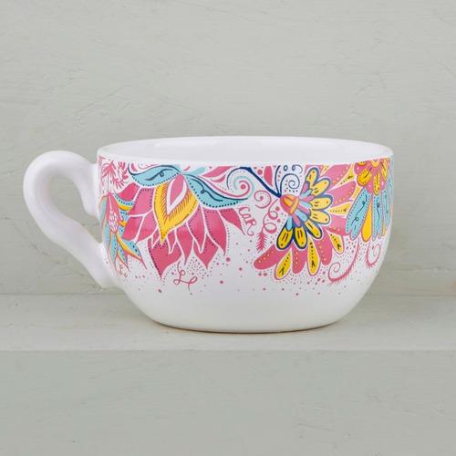 tazas tazones de diseño de cerámica decorados (x2) | cp