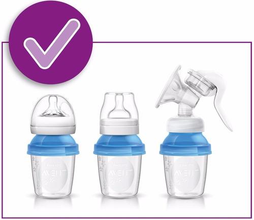 tazas - vasos para almacenar leche materna 6 oz  5 pzs avent