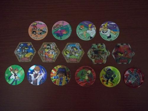 tazo e spiners diversos - elma chips - complete sua coleção