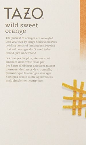 tazo wild orange orange filter bag tea 24count packages p