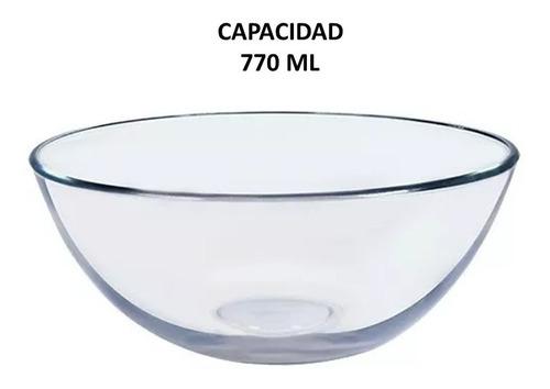 tazon bowl de vidrio 770 ml 12 pzas, incluye envío