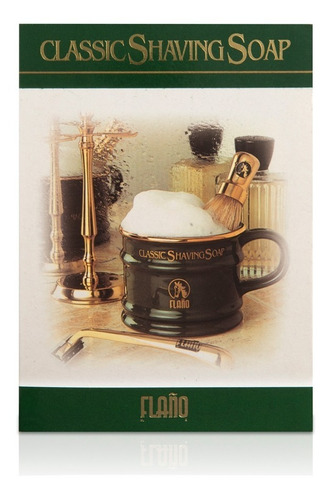 tazón de afeitar flaño + jabón afeitar 100g