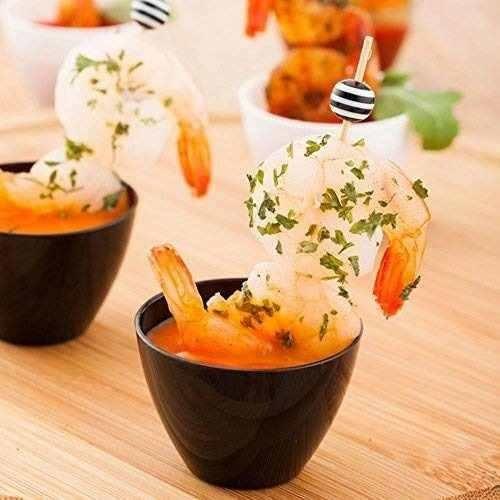 tazón de fuente de degustación mini negro, tazón de aperitiv