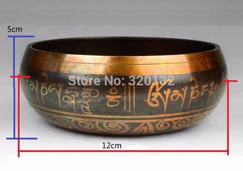 tazón o cuenco tibetano en 7 metales - importado - 16 cms