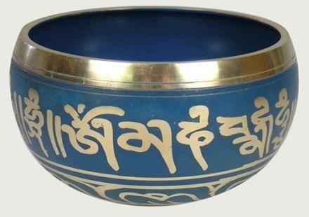 tazón o cuenco tibetano, original  mediano 13 cms diametro