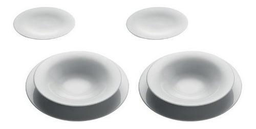 tazones de sopa,ku 3 piezas cubierto (juego de 2)