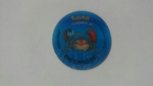 tazos 2 3d pokemon krabby #98 #99 coleccion vendo cambio
