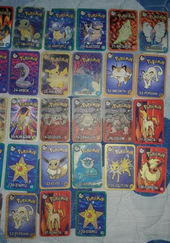 tazos cards cartas pokémon retangulares