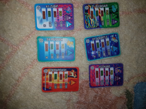 tazos cards poquemon elma chips