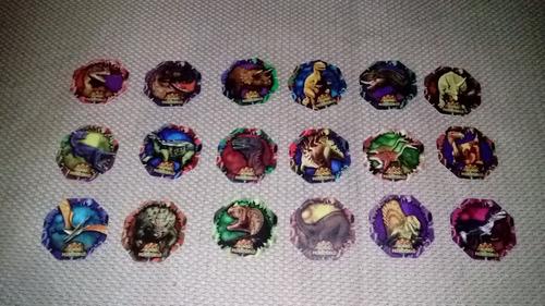 tazos dino tazo colección completa 36 nuevos evercrisp 1995