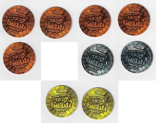 tazos jumbo coleção elma chips o máskara holográfico unidade