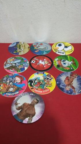 tazos varias series 17 piezas