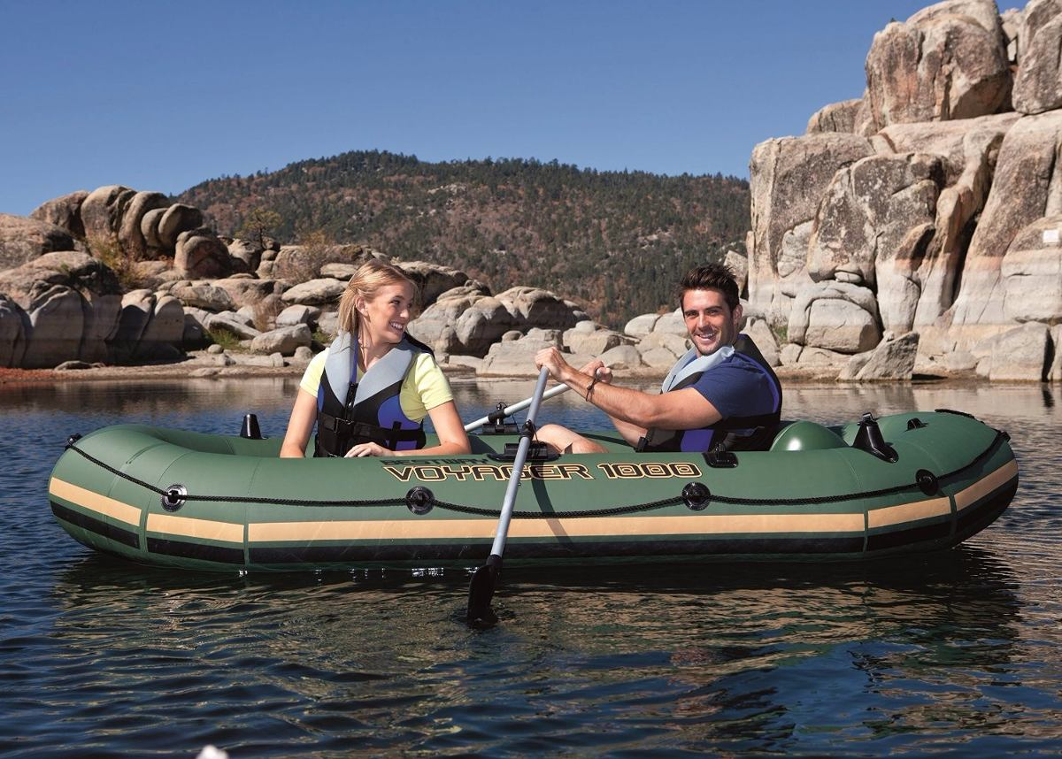 Tb alberca bestway hydro force voyager inflatable boat for Albercas bestway precios