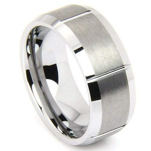 tb anillo gay 8mm tungsten matte and polished comfort fit ri