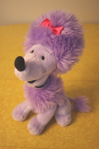 tb cleo plush toy dog from the show clifford