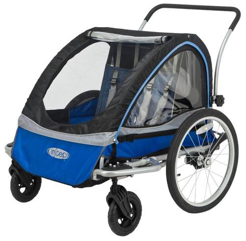 tb cochecito instep rocket 11 bicycle trailer, blue/grey