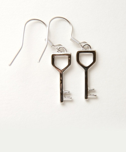 tb cosplay twhite gold plated dungeon key costume earrings