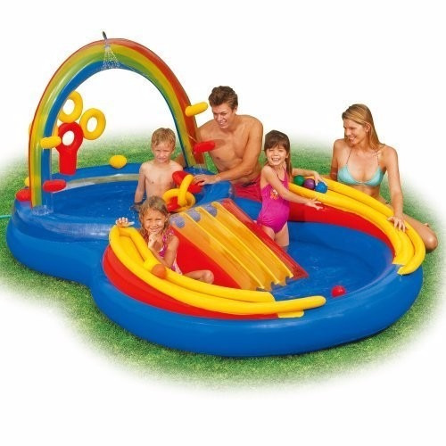 tb inflable intex inflatable kids rainbow ring