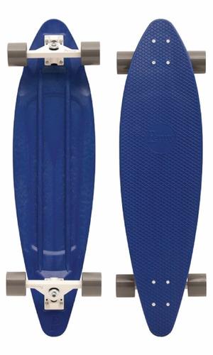tb skateboard penny royal blue / white / grey longboard