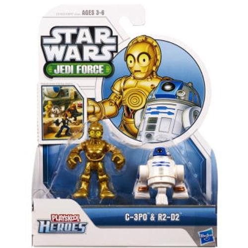 tb star wars jedi force playskool heroes c-3po & r2-d2